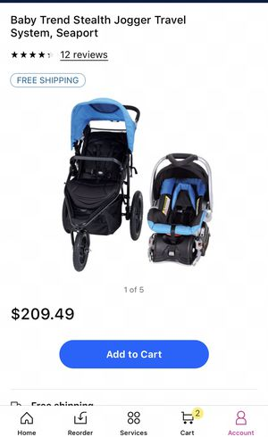 "Brand new"" Baby Trend Stealth Jogger Travel System (car seat and stroller) for Sale in Laveen Village, AZ"