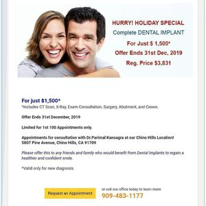 Teeth implants for only 1500 for Sale in Ontario, CA
