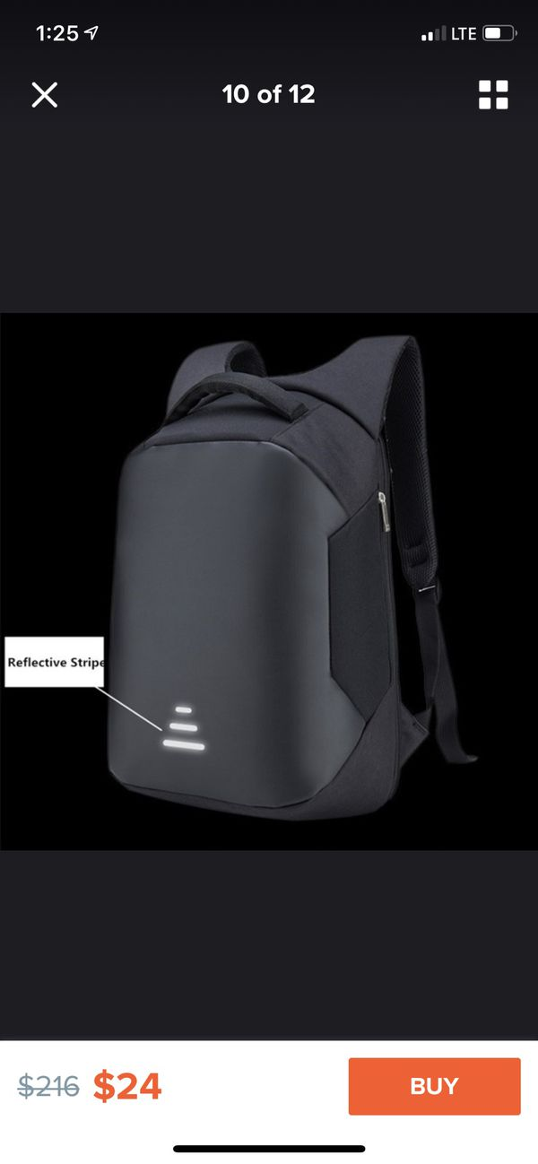 New fashion usb charge Anti theft backpack waterproof laptop backpack