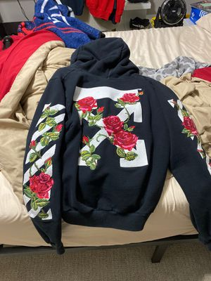 Off white rose hoodie for Sale in Maitland, FL