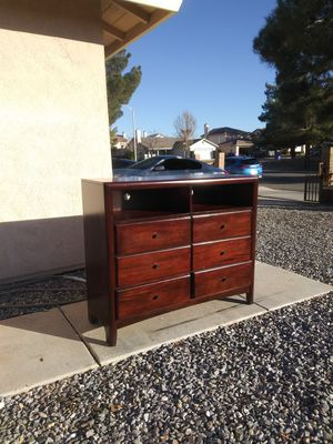 Solid Wood Dresser With Entertainment Center for Sale in Victorville, CA