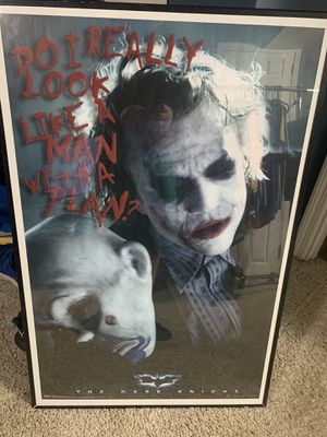 Framed Joker poster for Sale in St. Peters, MO