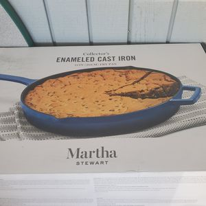 """Martha Stewart Cast Iron 12"""" Fry Pan/ Sapphire Color for Sale in Springfield, OR"""