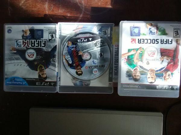 6 PS3 futbol games bundle $35