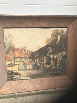 Wood framed painting for Sale in Cleveland, OH