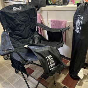 Two Coleman Oversized Quad Chairs With Cooler Pocket for Sale in Everett, WA