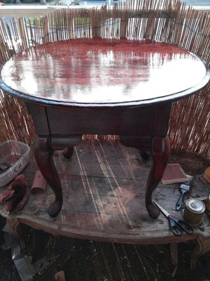 Newly refinished antique table for Sale in Tampa, FL