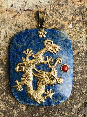 Lapis with Gold/Stone - Golden Dragon for Sale in La Verne, CA