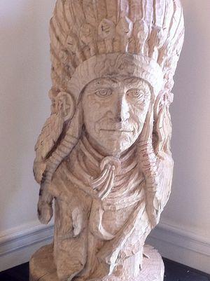 Indian wood sculpture for Sale in Alexandria, VA