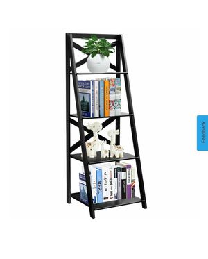 (23) 4-Tier Ladder Shelf Bookshelf Bookcase Storage Display Leaning Home Office Decor for Sale in Industry, CA