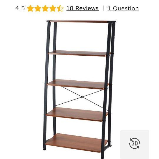 Gillespie 5-Shelf Ladder Design Bookcase