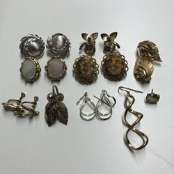 Lot Of Vintage Ear Clips And Some Earrings for Sale in Collinsville,  IL