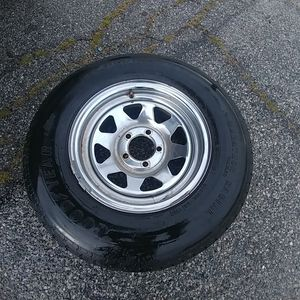 Trailer spare tire wheel only have one 14 in bolt pattern 5 on 4 and 1/2 for Sale in West Covina, CA
