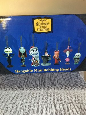 Disney Tim Burton Nightmare before Christmas Hangable mini bobble Head for Sale in Pittsburgh, PA