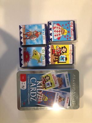 4 Kids Card Games with case for Sale in Huntington Beach, CA