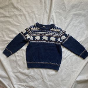 JANIE & JACK Bear Crewneck Pullover Sweater, 3T for Sale in City of Industry, CA