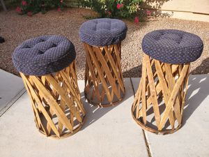 3 Vintage Handmade Mexican Bar Stools for Sale in Queen Creek, AZ