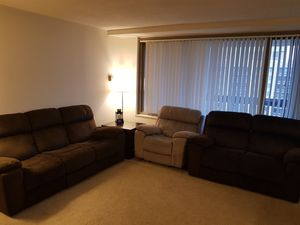 3 pieces Power Reclining sofa with power headrest ( sofa, loveseat,single chair) for Sale in Alexandria, VA