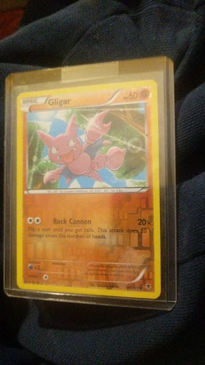 Gligar basic Pokemon Rock Cannon * 20 HP 60 card 46 / 119 for Sale in New Albany, IN