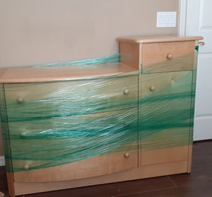 Solid wood Diaper Changing table and Dresser with matching crib for Sale in Sorrento, FL