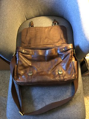 Leather messenger bag -Fossil for Sale in Odessa, FL