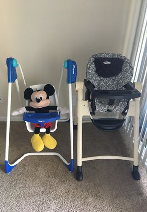 Baby chair and baby swing (everything) for Sale in Alexandria, VA