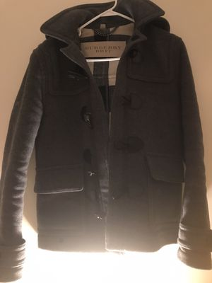 Burberry Grey Wool Coat size: xs for Sale in Quincy, MA