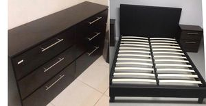 New queen platform bed frame. One nightstand. Dresser. Delivery for Sale in Fort Lauderdale, FL