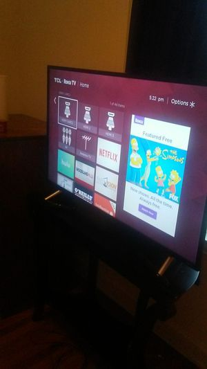 "TCL 49"" Roku/Smart TV with stand and remote for Sale in Washington, DC"