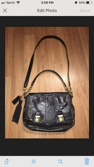 Coach Messenger bag purse black leather EXC for Sale in Atlanta, GA