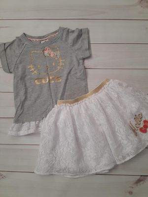 Girls clothes Hello Kitty shirt and skirt size 5T for Sale in Oakland, CA