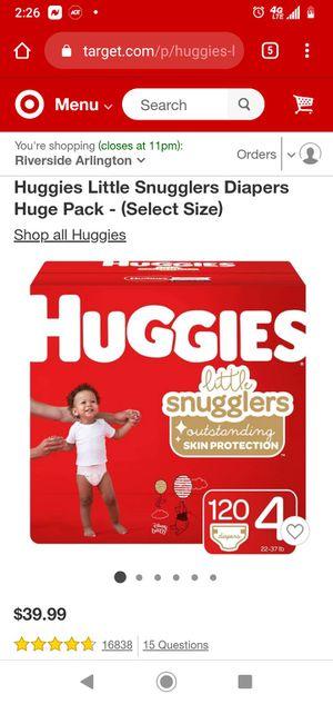 Huggies Diapers for Sale in San Bernardino, CA