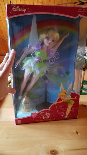 Disney Tinkerbell porcelain keepsake doll. New in box for Sale in Bonney Lake, WA