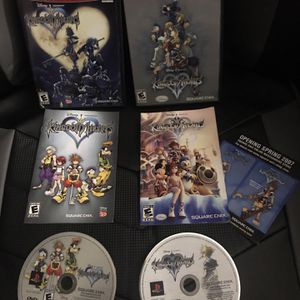 Kingdom Hearts 1 and 2 Complete CIB PS2 Bundle Sony Playstation 2 Excellent Disc for Sale in Murrieta, CA