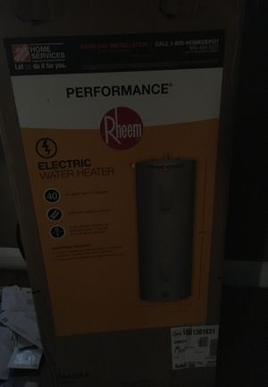 Performance rheem 40gallon tank electric water heater for Sale in Baltimore, MD