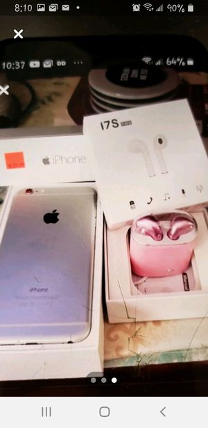 iPhone 6x with earplugs pink for Sale in Columbia, SC