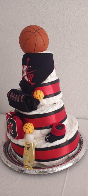 4 Tier Michael Jordan Diaper Cake for Sale in Tampa, FL