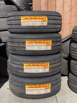 245/40R18 Four Brand New Tires / Installation & Balancing Included for Sale in Rialto, CA