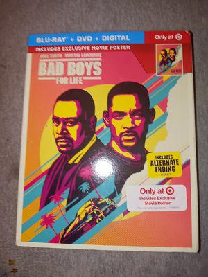 Bad Boys For Life (Blu Ray+Dvd+Digital+SlipCover) New Sealed for Sale in Michigan City, IN