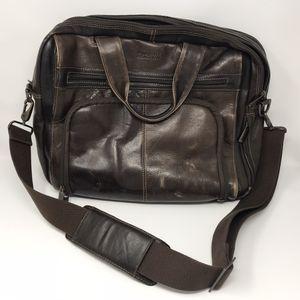"Kenneth Cole Reaction Leather 15.6"" Laptop Portfolio Messenger Bag for Sale in Springfield, VA"