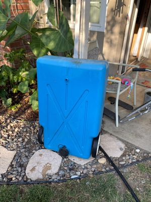 Tote along 30Gal. Extra waste water container fits under Camper /trailer/5th wheel for Sale in Upland, CA