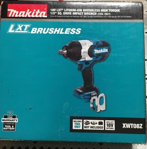 Makita 18-Volt LXT Lithium-Ion Brushless Cordless High Torque 1/2 in. 3-Speed Drive Impact Wrench (Tool-Only) no batery no charger brand new for Sale in Los Angeles, CA