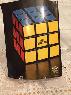 Rubrics Cube vintage 1980 solution guide one owner! for Sale in Peoria, IL