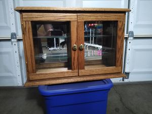 Solid Oak Display Case for Sale in Bakersfield, CA
