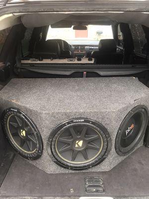 "12"" kicker comp-12""pb-10""Polk audio and a diablo amp 2800 watts class D for Sale in Dallas, TX"