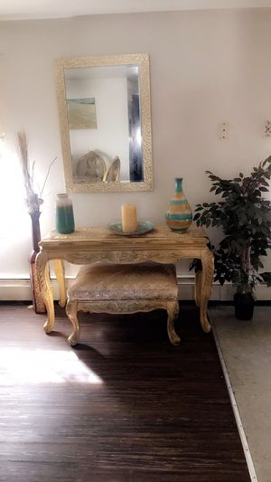 Console table 45 inches with stool. Bought 2 years ago still in good condition. for Sale in Boston, MA