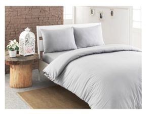 Duvet Cover - Turkish Cotton, Grey for Sale in Cambridge, MA