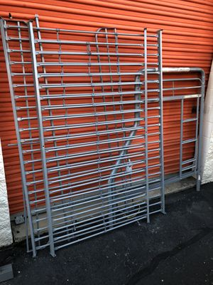 IKEA metal bunk bed twin over full for Sale in Boston, MA