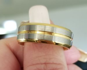 Gold and silver tungsten carbide wedding band... size 8 for Sale in Riverside, CA