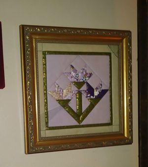 Quilt art in gold frame 12x12 for Sale in Long Beach, CA